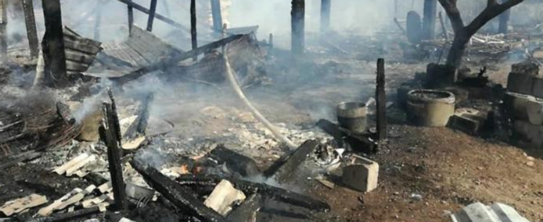 «Nos quedamos sin nada, todo se quemó en la casa»
