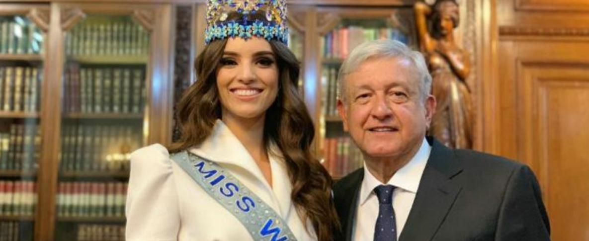 De esto habló AMLO con Miss Mundo en Palacio Nacional