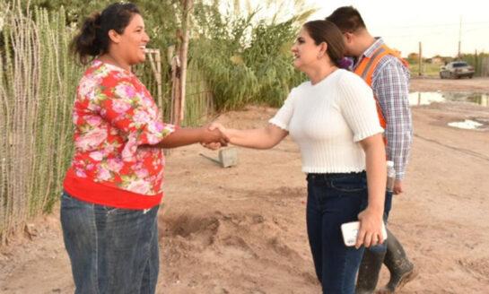 Encabeza la alcaldesa Celida López operativo de asistencia a damnificados en la zona rural Poniente