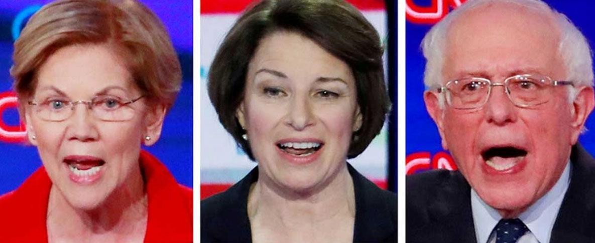 Precandidatos demócratas van a debate, con Trump en la mira