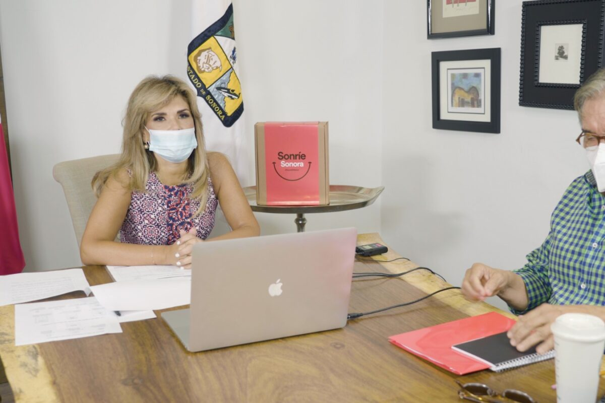Presenta Gobernadora proyecto solidario Sonríe Sonora para impulsar comercios y productos regionales
