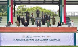 PRESIDENTE CELEBRA AVANCES DE LA GUARDIA NACIONAL EN PRIMER AÑO DE FUNCIONES