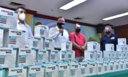 CELEBRA ALCALDE MARISCAL ALVARADO DONATIVO DE CUBRE BOCAS KN95 EN BENEFICIO DE LOS ELEMENTOS DE SEGURIDAD PÚBLICA DE CAJEME
