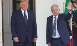 Donald Trump recibió a López Obrador en la Casa Blanca