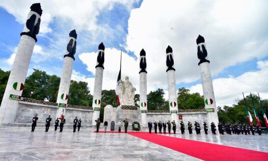Presidente encabeza ceremonia del 173 Aniversario de la Gesta Heroica de los Niños Héroes de Chapultepec