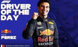 """F1: """"Checo"""" Pérez, el piloto del día en el GP de Baréin"""