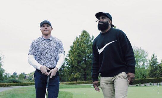 """""""Canelo"""" Álvarez juega golf con figura de la NFL"""