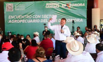 """Defenderá el """"Borrego"""" Gándara el campo sonorense de la """"ceguera"""" regional del Gobierno Federal"""