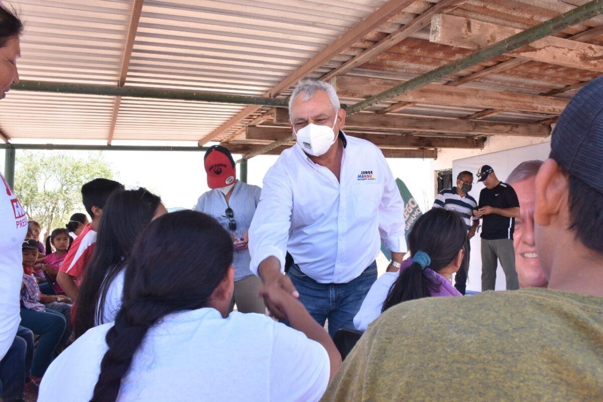 """""""Las comunidades de Navojoa, cambiarán para bien de los ciudadanos"""": Jorge Luis Márquez"""