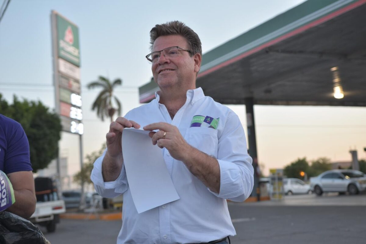 A una semana del arranque de camapaña, el candidato Independiente, Rodrigo Bours, se siente muy contento.