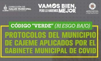DISMINUYE EN CAJEME NIVEL DE RIESGO Y ESTABLECE GABINETE MUNICIPAL COVID MEDIDAS RESPONSABLES DE REACTIVACIÓN ECONÓMICA Y SOCIAL