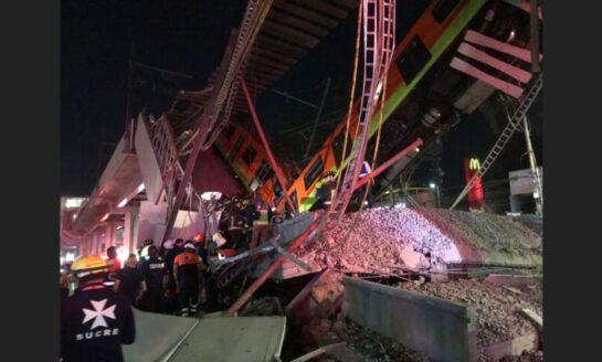 Se desploma 'ballena' con tren del Metro CDMX en la estación Olivos de la Línea 12