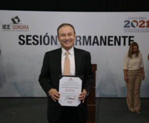 Alfonso Durazo es declarado gobernador electo de Sonora.