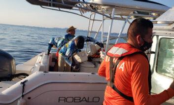 Rescatan a náufragos en Guaymas con apoyo de chat MAS WhatsApp de SSP Sonora