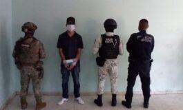 DETIENE OPERATIVO MIXTO DE LA POLICÍA MUNICIPAL A PERSONA POR PRESUNTO DELITO CONTRA LA SALUD