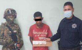 CAPTURA POLICÍA MUNICIPAL A HOMBRE POR  PRESUNTO DELITO CONTRA LA SALUD