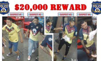 Ofrecen recompensa por hombres que mataron a golpes a un aficionado americanista en Filadelfia
